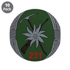 "Gebirgsjagerbataillon 231 3.5"" Button (10 pack)"