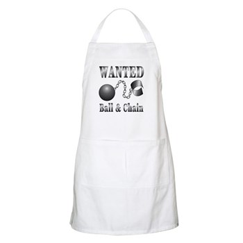 Ball And Chain WANTED! BBQ Apron