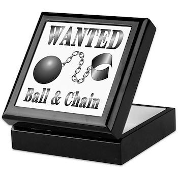 Ball And Chain WANTED! Keepsake Box