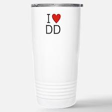 Cute I heart dd Travel Mug