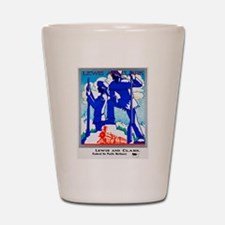 Pacific Northwest Travel Poster 1 Shot Glass
