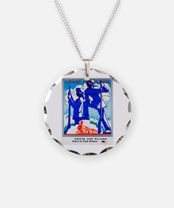 Pacific Northwest Travel Poster 1 Necklace
