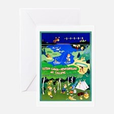 Canada Travel Poster 5 Greeting Card
