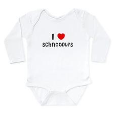 Cute Schnoodle Long Sleeve Infant Bodysuit