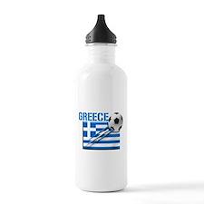 Greece Soccer Water Bottle