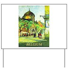 Belgium Travel Poster 1 Yard Sign