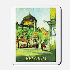 Belgium Travel Poster 1 Mousepad