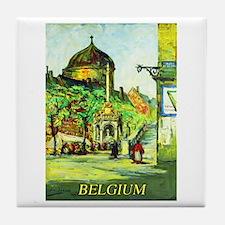 Belgium Travel Poster 1 Tile Coaster