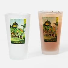 Belgium Travel Poster 1 Drinking Glass