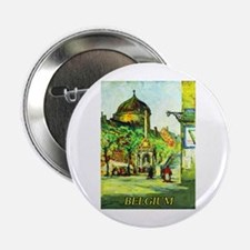 "Belgium Travel Poster 1 2.25"" Button"