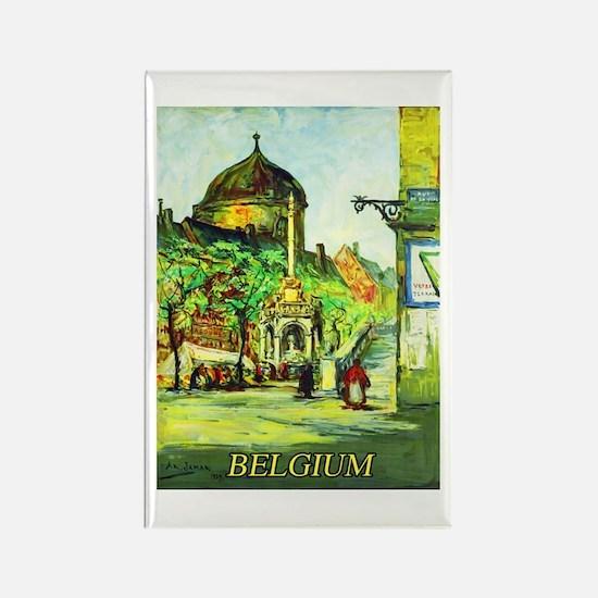 Belgium Travel Poster 1 Rectangle Magnet