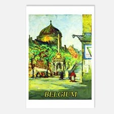 Belgium Travel Poster 1 Postcards (Package of 8)