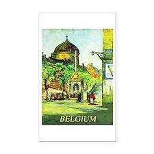Belgium Travel Poster 1 Rectangle Car Magnet