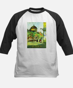 Belgium Travel Poster 1 Kids Baseball Jersey