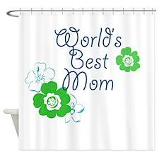 World's Best Mom Shower Curtain
