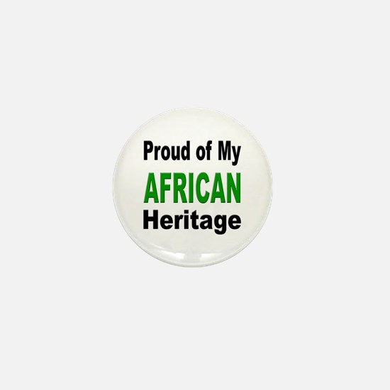 Proud African Heritage Mini Button