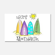I Surf Montauk Car Magnet 20 x 12