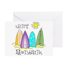 I Surf Montauk Greeting Card