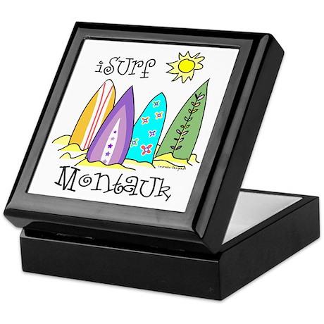 I Surf Montauk Keepsake Box