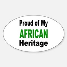 Proud African Heritage Oval Decal