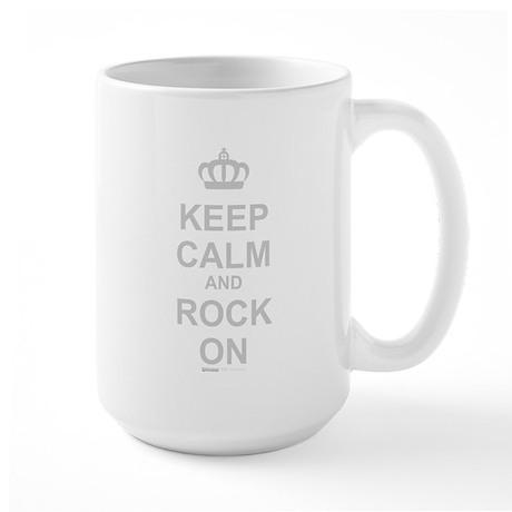 Keep Calm And Rock On Large Mug
