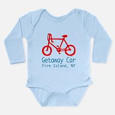Fire Island Getaway Car Long Sleeve Infant Bodysui
