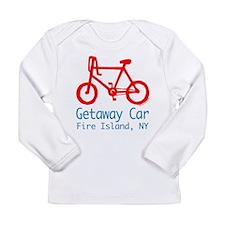 Fire Island Getaway Car Long Sleeve Infant T-Shirt