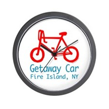 Fire Island Getaway Car Wall Clock