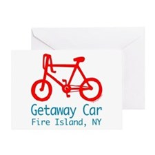 Fire Island Getaway Car Greeting Card