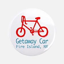 """Fire Island Getaway Car 3.5"""" Button"""
