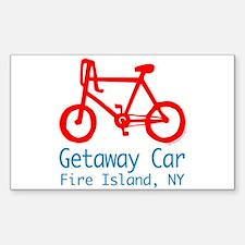 Fire Island Getaway Car Decal