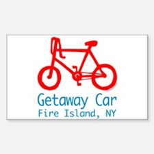 Fire Island Getaway Car Sticker (Rectangle)
