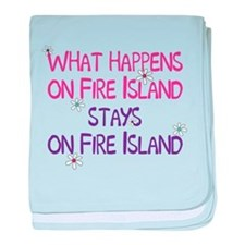 What Happens on Fire Island baby blanket