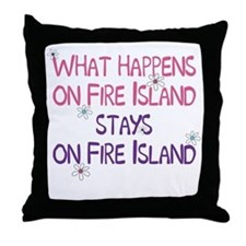 What Happens on Fire Island Throw Pillow