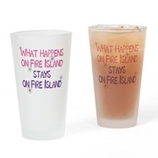 What Happens on Fire Island Drinking Glass