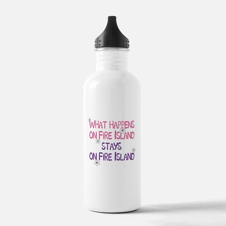 What Happens on Fire Island Water Bottle