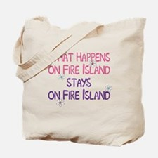 What Happens on Fire Island Tote Bag