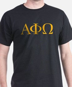 Alpha Phi Omega Letters Yellow T-Shirt