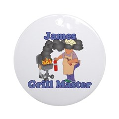 Grill Master James Ornament (Round)