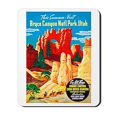Utah Travel Poster 2 Mousepad