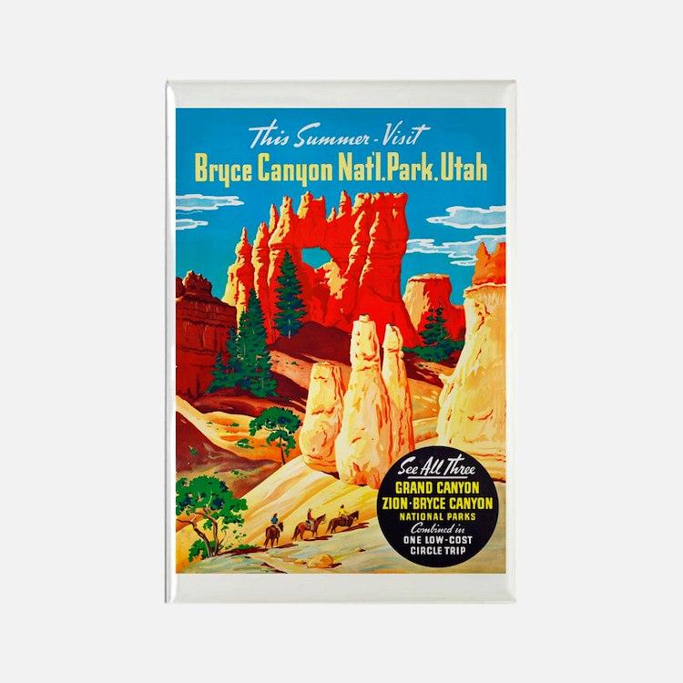 Utah Travel Poster 2 Rectangle Magnet