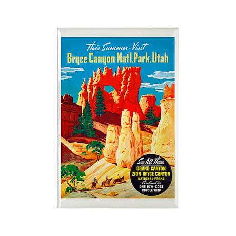 Utah Travel Poster 2 Rectangle Magnet (10 pack)