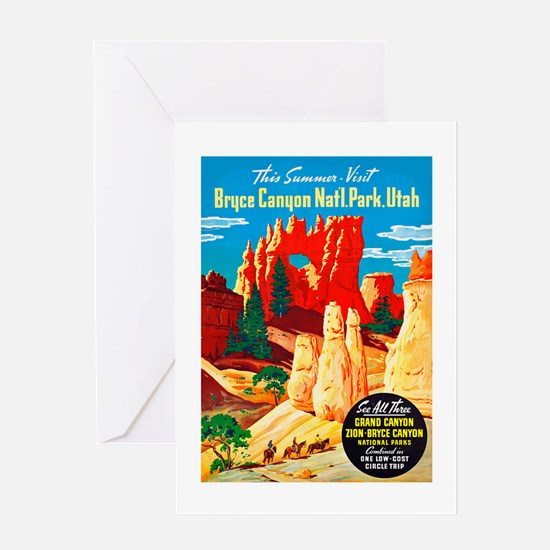 Utah Travel Poster 2 Greeting Card