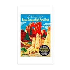Utah Travel Poster 2 Decal