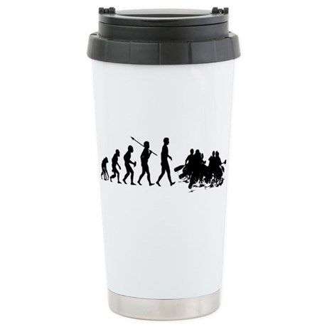 White Water Rafting Stainless Steel Travel Mug