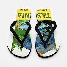 Tasmania Travel Poster 1 Flip Flops
