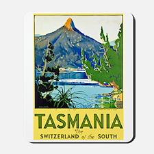 Tasmania Travel Poster 1 Mousepad