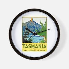 Tasmania Travel Poster 1 Wall Clock
