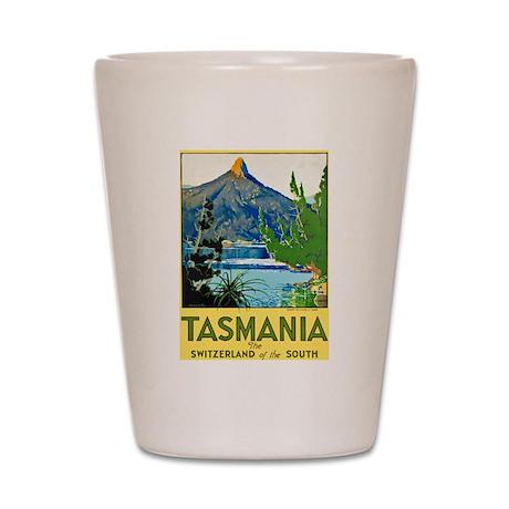 Tasmania Travel Poster 1 Shot Glass