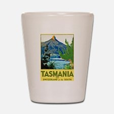 Tasmania Travel Poster 1 Shot Glass